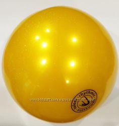 Мяч Tuloni глиттер 18 см gold Art. T0115 Уценка. Брак