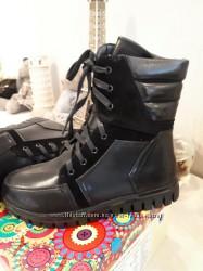 Утепленные флисом войлоком ботинки  33-38  B&G