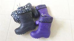 Резиновые сапоги утепленные сьемный войлочный носок 23-30р-2 цвета