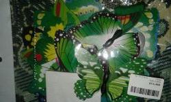 Бабочки 3D для декора интерьера цветные