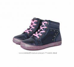 Ботинки кожаные на девочку р25-30 D. D. step дд степ