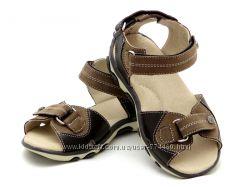 Босоножки сандали на мальчика кожа 26-31р Берегиня 0925 коричневый