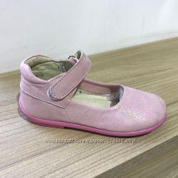 Туфли на девочку кожаные р20-25 Берегиня 2619 пудра