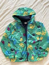 Курточка ветровка на флисе р. 110