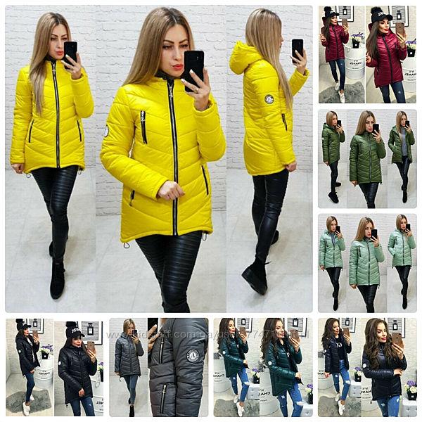 Стильная женская куртка демисезонная укороченная прошитая на синтепоне 7 цв
