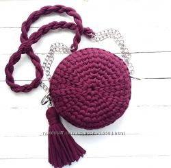 9441e1b5265f Круглая сумочка из трикотажной пряжи, 600 грн. Женские сумки ...