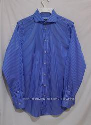 Новая рубашка дизайнерская в синюю полоску PAUL COSTELLOE 46-48р