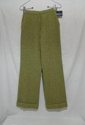 Новые брюки прямые шерсть оливковый хаки в елочку KOOKAI 44-46р