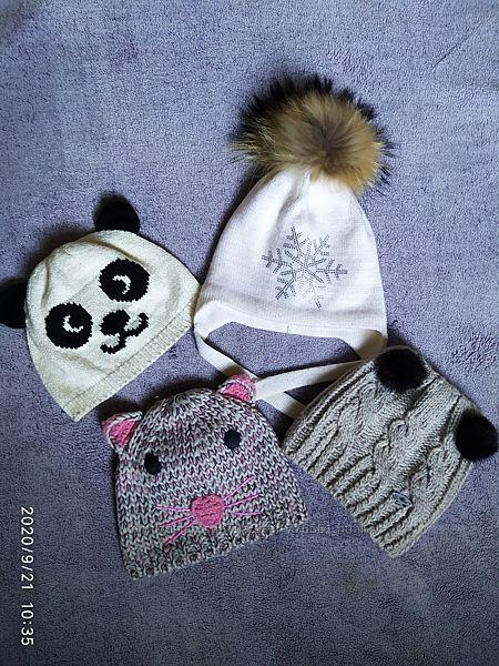 Деми и зимние шапочки на 3-6 лет