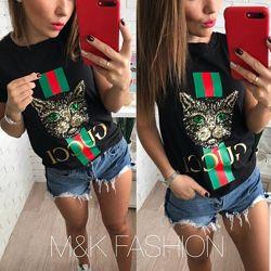 Женская футболка с пайетками Гуччи
