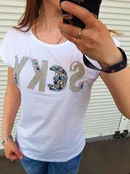 Женская футболка Sky  ЛЮКС