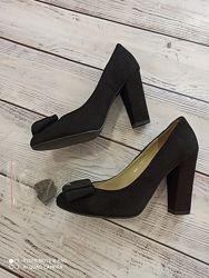 Замшевые туфли, 24-24.5см