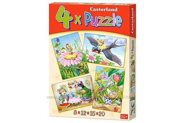 Puzzle Дюймовочка 4 в 1 Сastorland пазлы