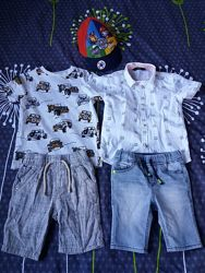 Набор фирменных летних вещей на мальчика Next George F&F 3-4года.