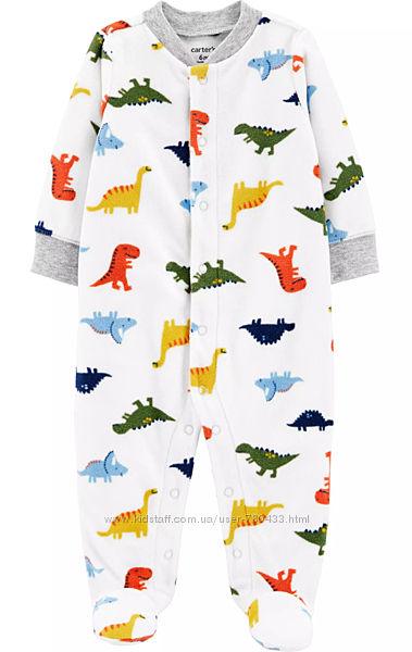 Флисовый человечек пижама слип Сarters на 9 мес.