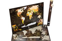 Скретч-карта мира My Map Chocolate Edition.