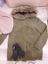 Курточка парка для девочки подростка р. S-М
