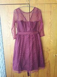 Новое платье Dickins&Jones бордового цвета р. 8