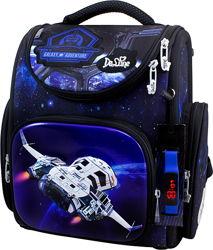 Ранец школьный ортопедический каркасный для мальчика Космос DeLune 3 серия