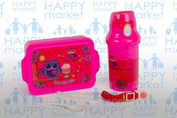 Подарочный набор Бутылочка для воды ланчбокс для девочки и мальчиков
