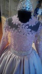 Платье на выпускной в сад или день рождения. Атлас