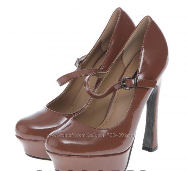 Туфли кофейные платформа каблук ana lublin 37, 39, 40, 41 размер