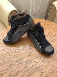 Стильные кожаные утеплённые ботинки Lacoste. Оригинал.
