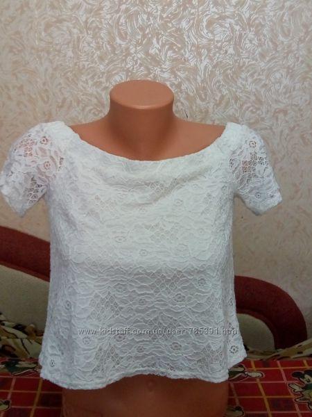 Белая блузка на 11-13 лет