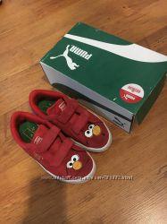 Кожаные кроссовки на липучках Puma оригинал