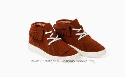 легкие кожаные ботинки мокасины Zara 22, 5см