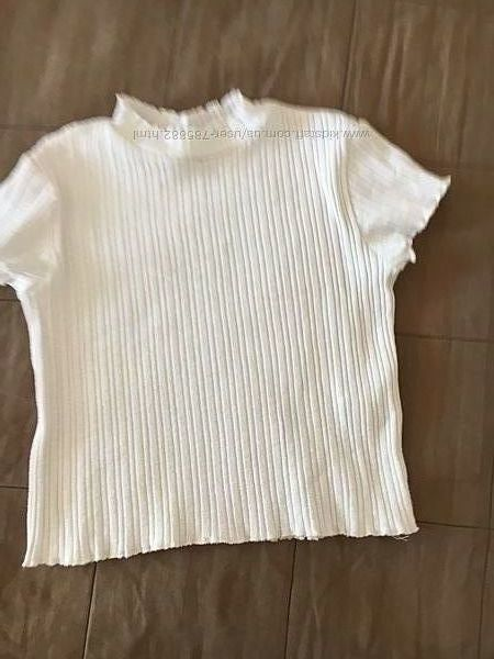 Нежная футболка в рубчик Zara
