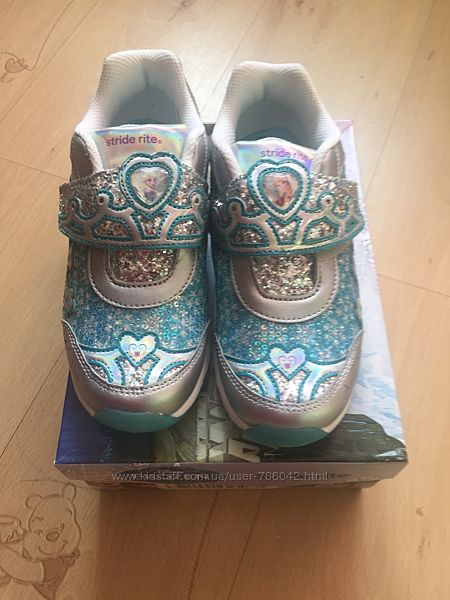 Фирменные кроссовки Stride Rite новые нарядные фрозен