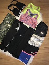 Короткие лосины для спорта спортивные капри шорты