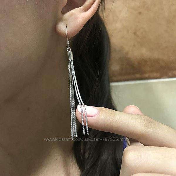Шикарные женские висячие серьги кисточки