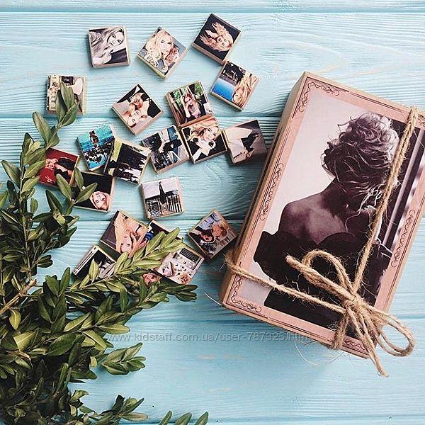 Подарочный шоколадный набор с вашими фото на 40 50 60 шоколадок под заказ