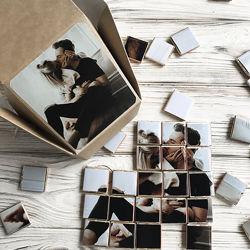Подарочный шоколадный набор с вашими фото на 48 шоколадок пазл под заказ