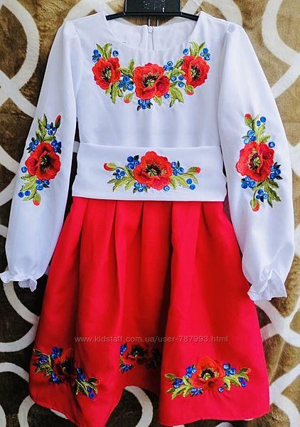 Платье вышиванка на девочку в наличии