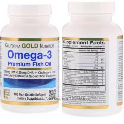 Омега-3 Рыбий жир California gold премиум-класса 100 капс. Акция