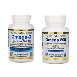 Омега-3 Рыбий жир California gold премиум-класса 100 капсул