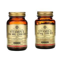 Витамин Е, 100 IU 67 mg 100 кас. Solgar