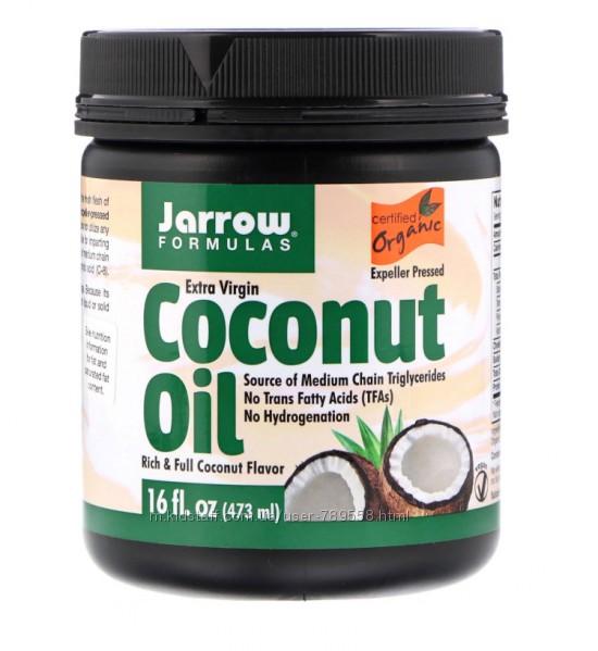 Кокосовое масло нерафинированное Jarrow Formulas