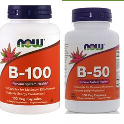 Now foods B 50 и  B 100 100 капсул