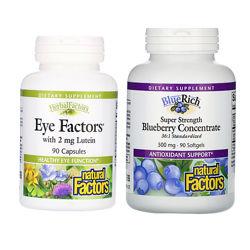 Черника, Комплекс для глаз с лютеин ом Natural Factors