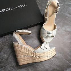 Kendall  kylie оригинал нежно-голубые босоножки эспадрильи из денима бренд