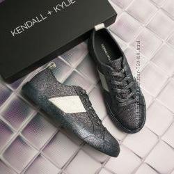Kendall  kylie оригинал темно-серые кеды с глиттером бренд из сша