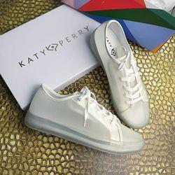 Katy perry оригинал 39-41 белые полупрозрачные кеды бренд из сша