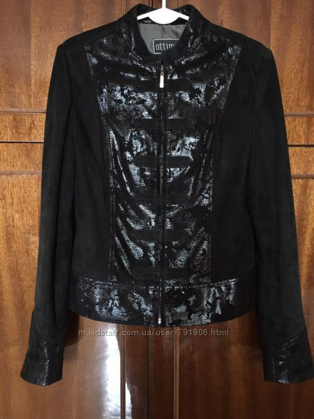 Супер кожанная курточка р 42