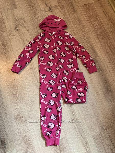 Флисовая пижама на 5-6 лет 110-116 см