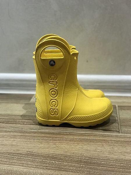 Crocs Сапожки на дождливую погоду 9,26-27 р