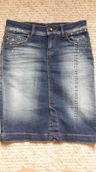 Стильна джинсова юбка Bershka стан 5